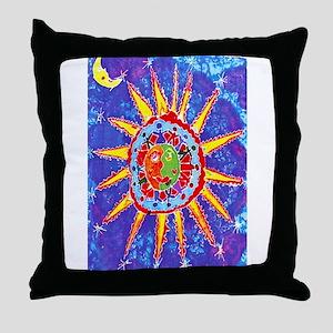 Hands Around the World Throw Pillow