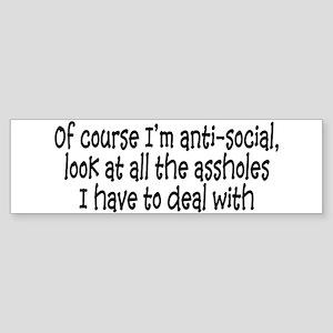 Anit-Social Sticker (Bumper)