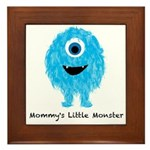 Mommys Monster Blue Framed Tile
