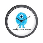 Mommys Monster Blue Wall Clock