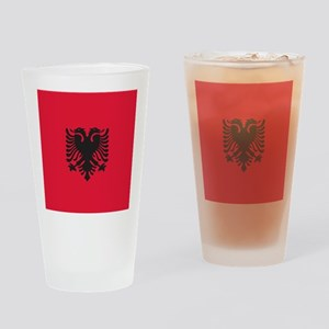 Albania Flag Drinking Glass