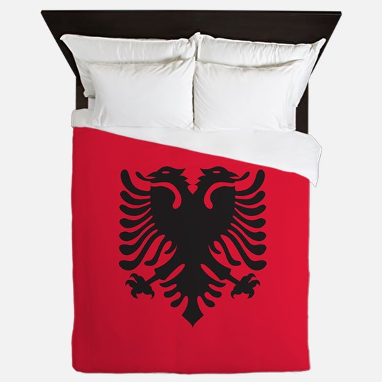 Albania Flag Queen Duvet