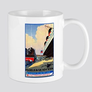 Transatlantic Travel Poster 1 Mug