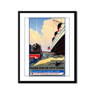 Transatlantic Travel Poster 1 Framed Panel Print
