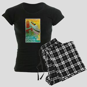 Transatlantic Travel Poster 2 Women's Dark Pajamas