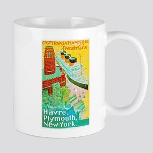 Transatlantic Travel Poster 2 Mug