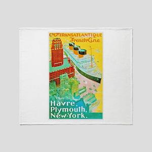 Transatlantic Travel Poster 2 Throw Blanket