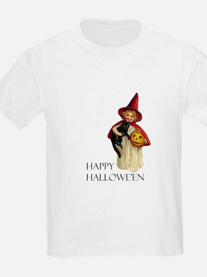 Vintage Halloween Witch Kids T-Shirt
