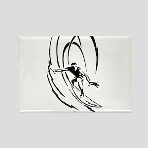 Cool Surfer Art Rectangle Magnet
