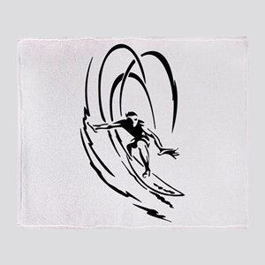 Cool Surfer Art Throw Blanket
