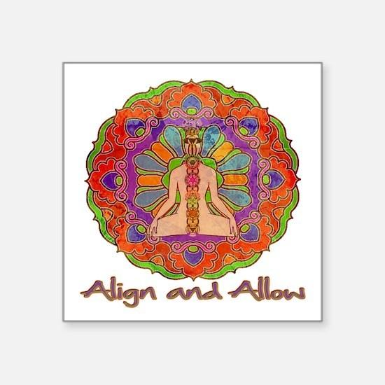 "Align and Allow Square Sticker 3"" x 3"""