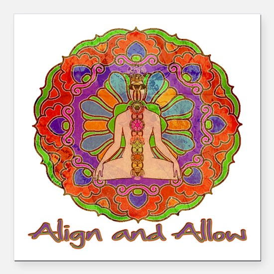 "Align and Allow Square Car Magnet 3"" x 3"""