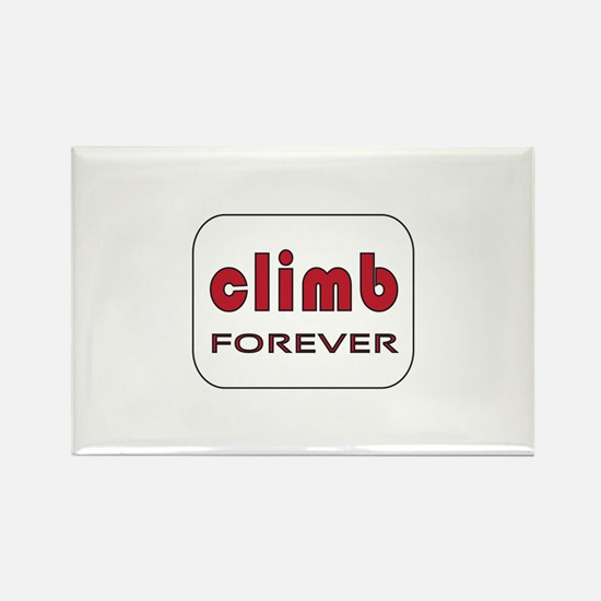 Climb Forever Rectangle Magnet