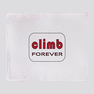 Climb Forever Throw Blanket