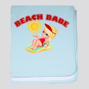 Beach Babe baby blanket