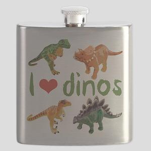 I Love Dinos Flask