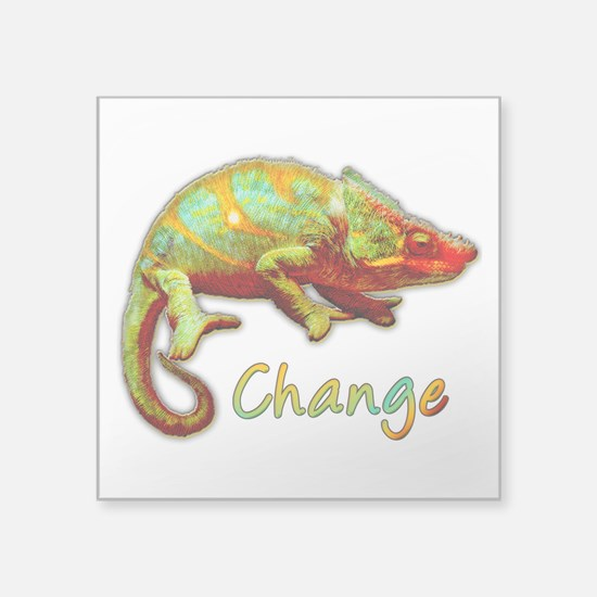 "Change Square Sticker 3"" x 3"""