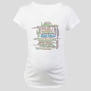 Proud History Teacher Maternity T-Shirt