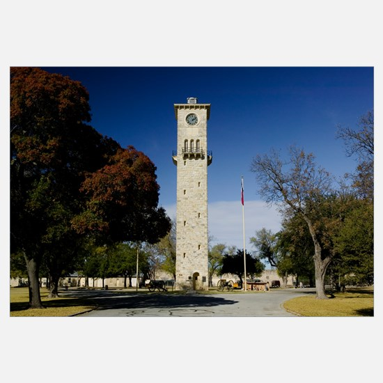 Low angle view of a clock tower, Fort Sam Houston,