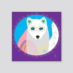 "whitefox Square Sticker 3"" x 3"""