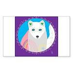 whitefox Sticker (Rectangle 50 pk)