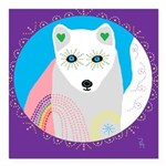 whitefox Square Car Magnet 3