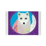 whitefox Rectangle Magnet (100 pack)