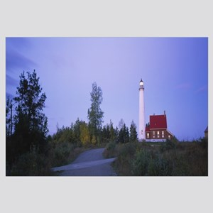 Road leading towards a lighthouse, Tawas Point Lig