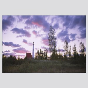 Lighthouse on a landscape, Tawas Point Lighthouse,