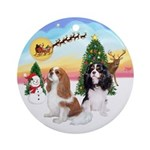 Take Off-Two Cavaliers Ornament (Round)