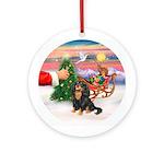 Treat for a Black/Tan Cavalier Ornament (Round)