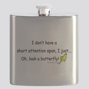 Attention Span Butterfly Flask