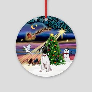 XmasMagic-Chihuahua (B&W) Ornament (Round)