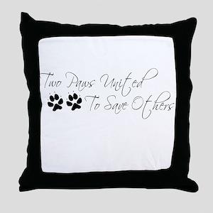 Two Paws Throw Pillow