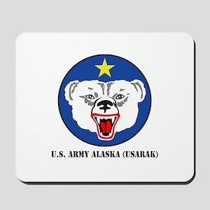 U.S. Army Alaska (USARAK) with Text Mousepad