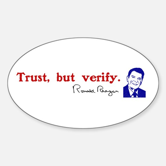 reagan trust but verify quote Decal