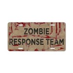 Zombie Response Team Aluminum License Plate