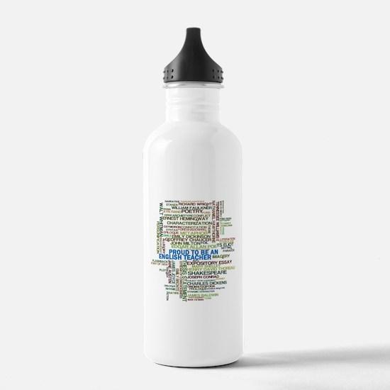 Proud English Teacher Water Bottle