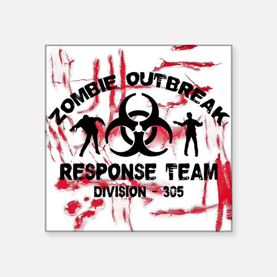 "Zombie Response Team Square Sticker 3"" x 3"""