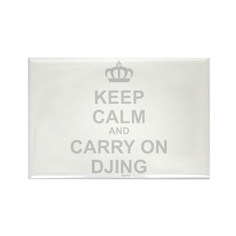 Keep Calm And Carry On DJing Rectangle Magnet