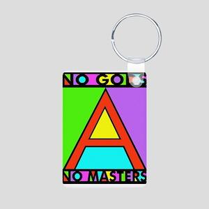 No Gods No Masters Aluminum Photo Keychain