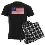 Betsy Ross Flag Men's Dark Pajamas