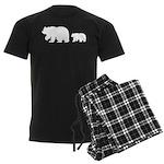 Bear Migration Icon (WH) Men's Dark Pajamas
