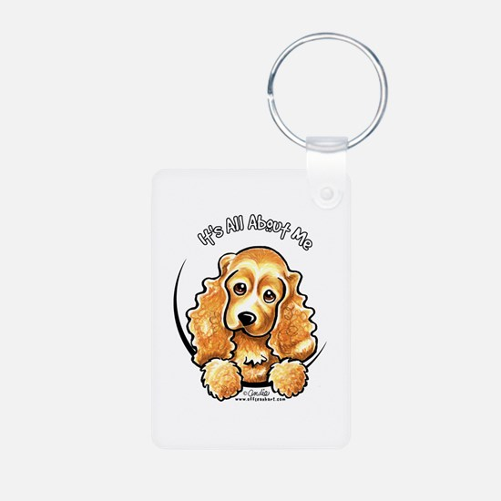 Cocker Spaniel IAAM Aluminum Photo Keychain