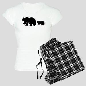 Bear Migration Icon (Blk) Women's Light Pajamas