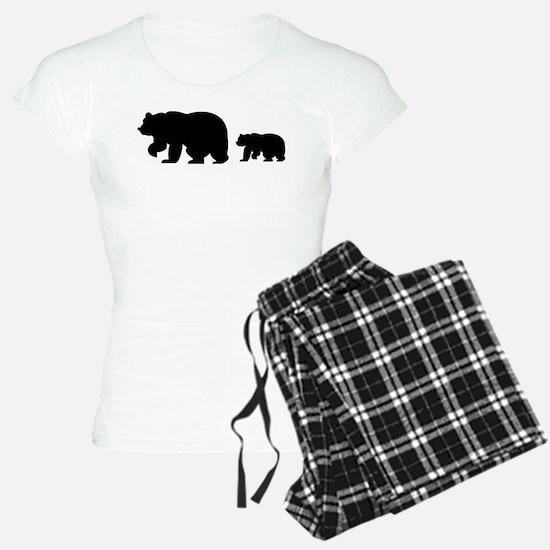 Bear Migration Icon (Blk) Pajamas
