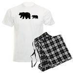 Bear Migration Icon (Blk) Men's Light Pajamas