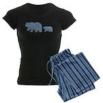 Bear Migration Icon (LB) Women's Dark Pajamas