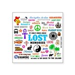 LOST Memories Square Sticker 3