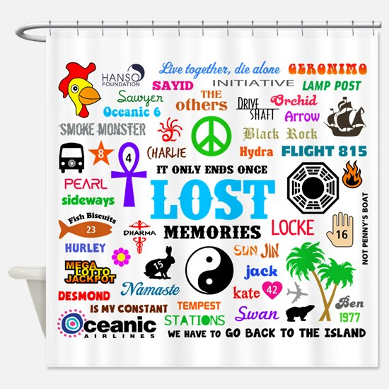 LOST Memories Shower Curtain